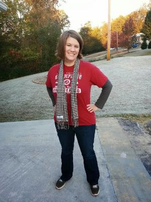 This is what a Bama fan wears to a game.