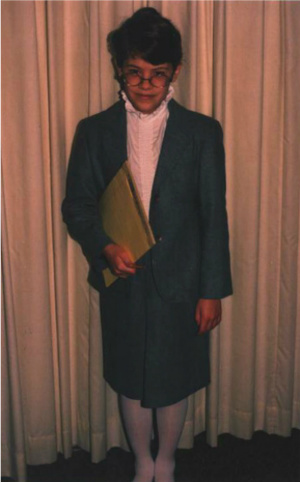 "I dressed up as an author for career day in third grade. Had I known the actual ""uniform"" of the working writer, I would have just worn my pajamas."