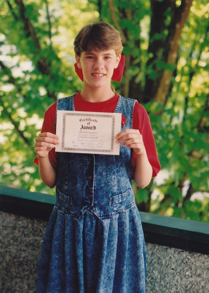 "Have I ever mentioned that I won the ""Best Christian Attitude Award"" four years in a row in elementary school? Or that my bangs accounted for about 40% of my body weight?"