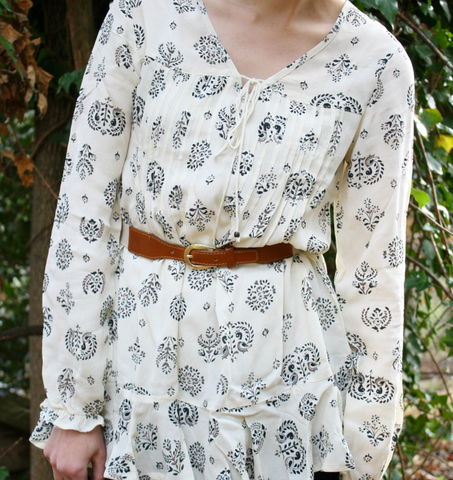 Nomads Peacock Dip Hem fair trade tunic via Style Wise.