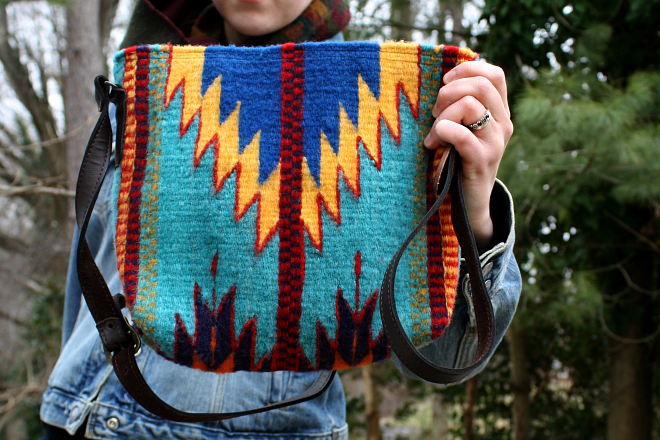 Chevron crossbody bag by Manos Zapotecas via Style Wise.