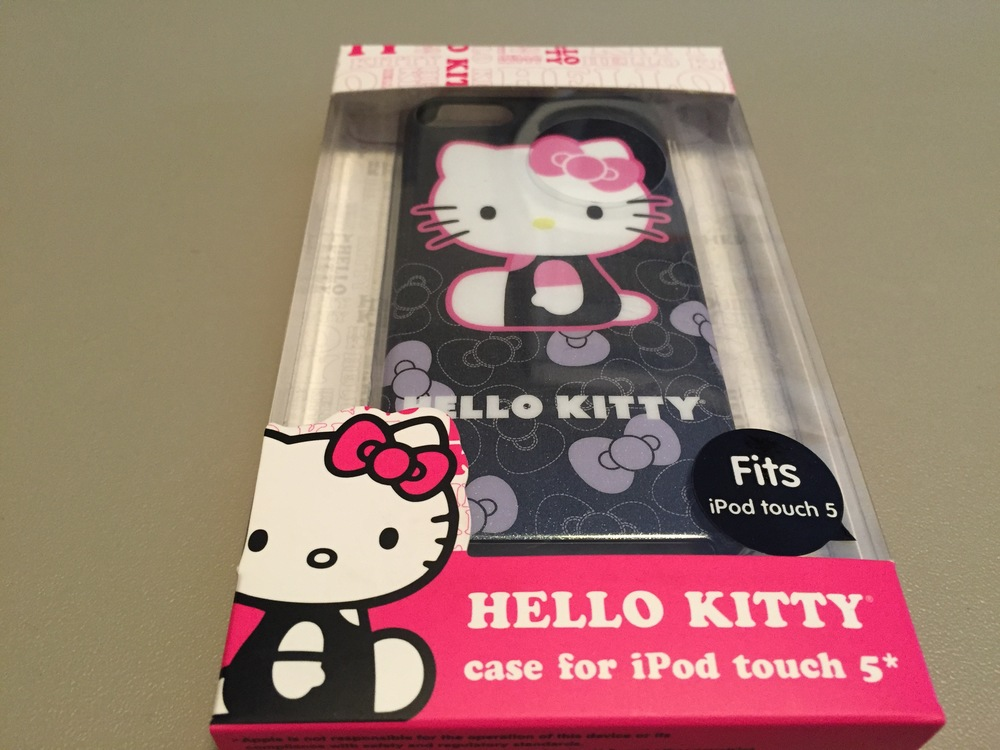 This case is for the iPod 5th Generation. Featured on the case is Hello Kitty.