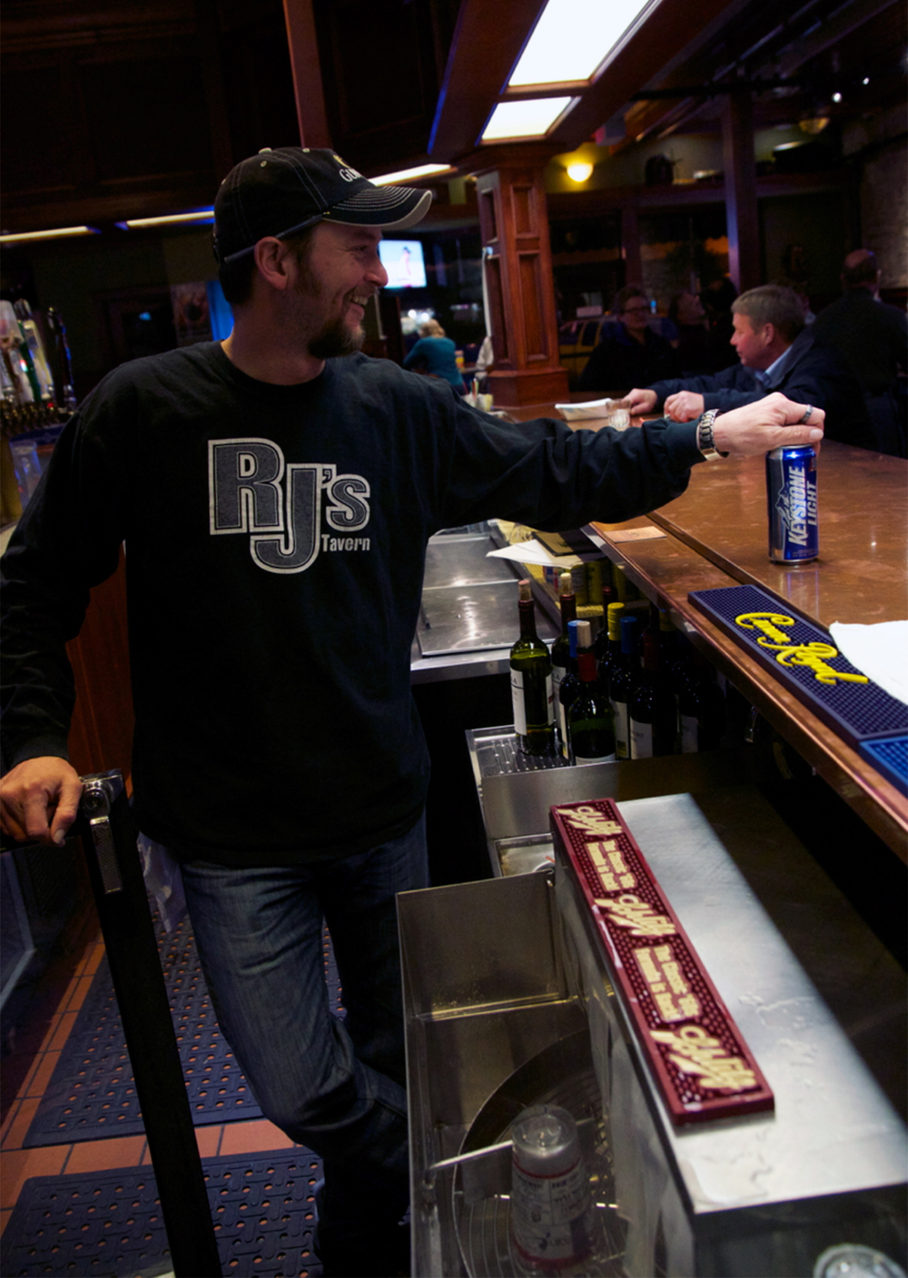 Brad serves up a tasty beverage