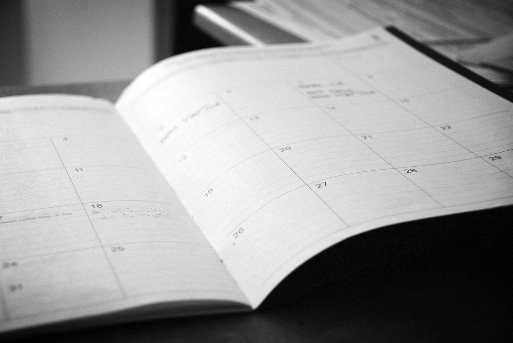 EVENTS - book your calendar