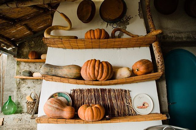 Memories of a rustic Italian October two years ago. They love #pumpkins as much as I do. #ravello #autumn