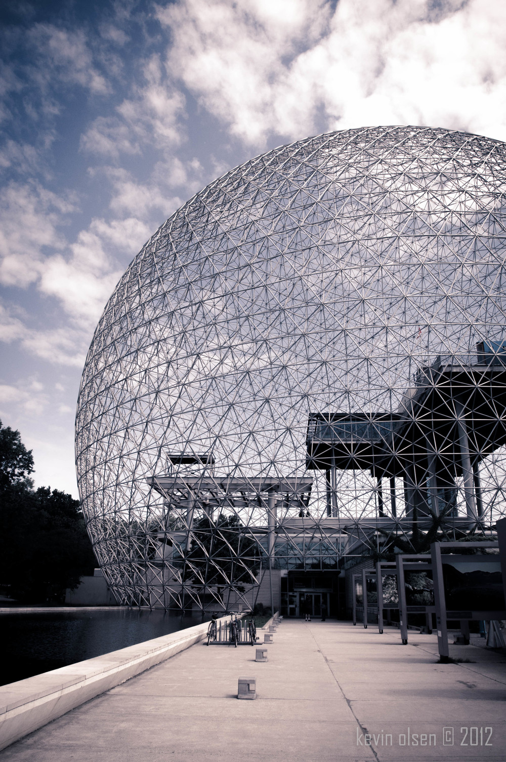 Buckminster Fuller's geodesic dome at the Montreal Olympic Island, 2011.