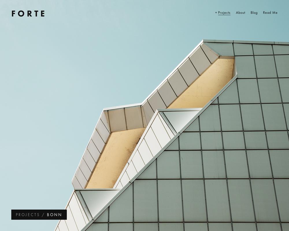 new template design forte the official squarespace blog. Black Bedroom Furniture Sets. Home Design Ideas