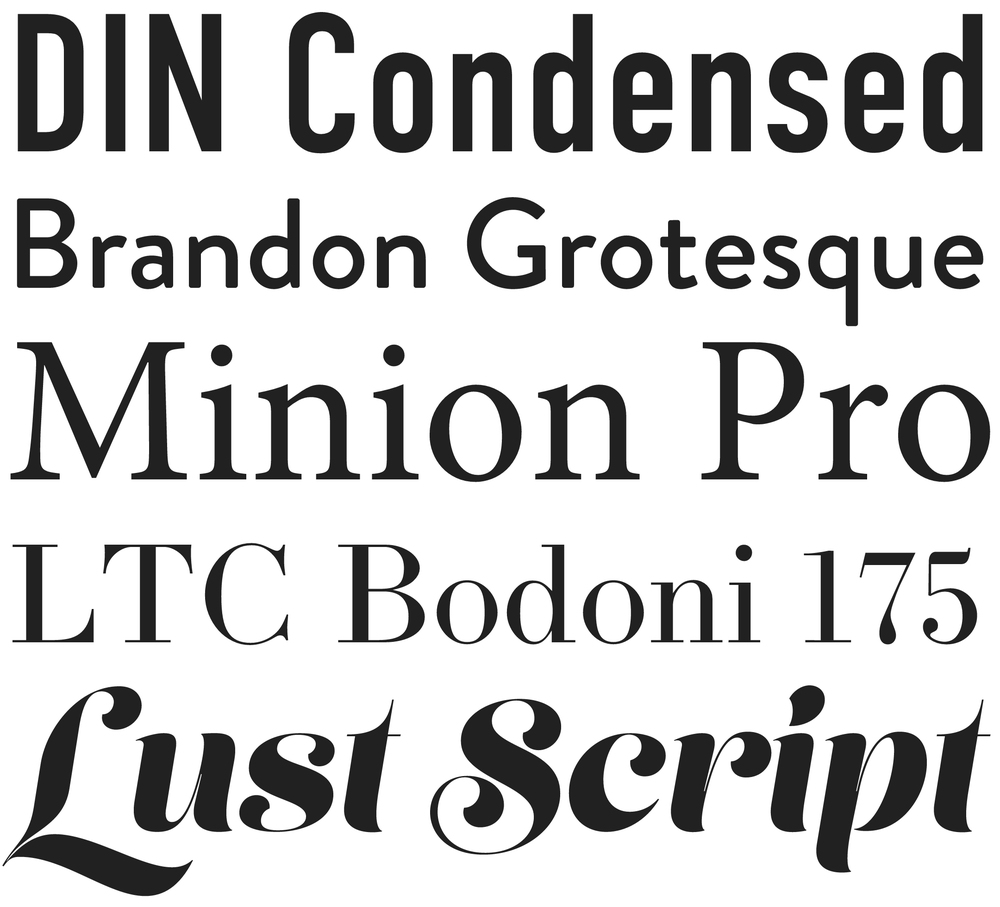 A few of our favorite fonts we now offer.