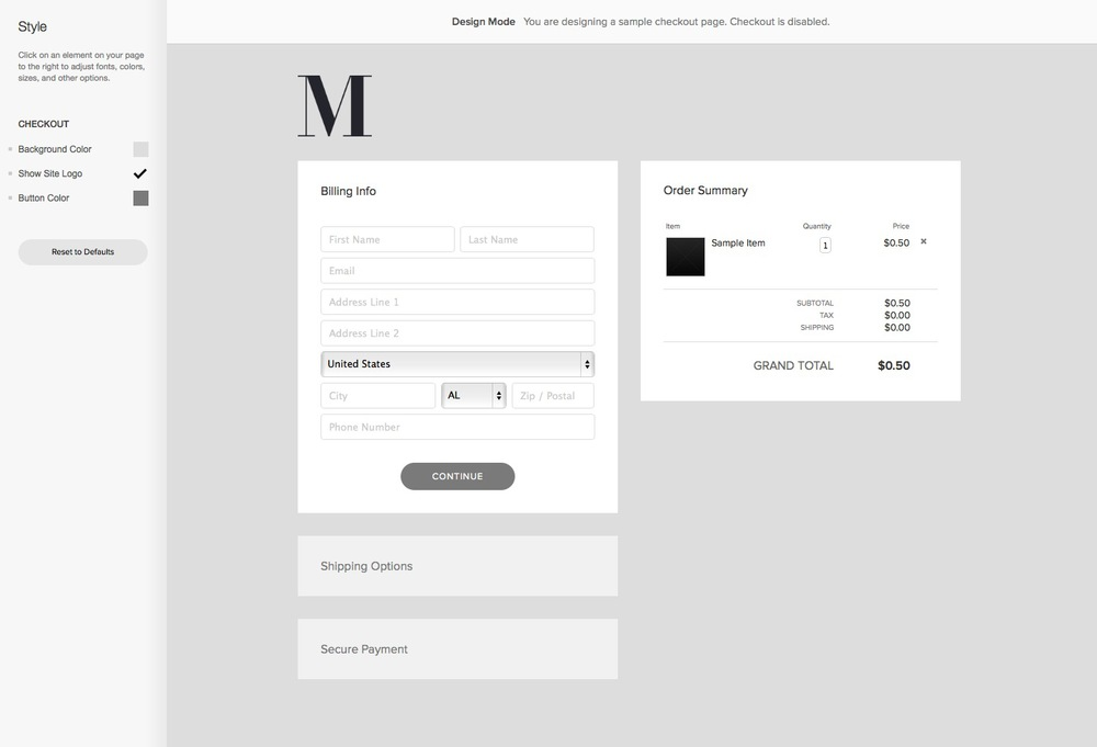 Customizable Checkout? Check. — The Official Squarespace Blog