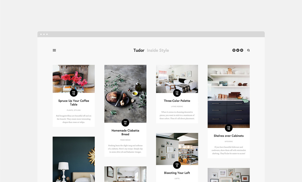 Introducing five magazine style templates the official for Best squarespace template for blog
