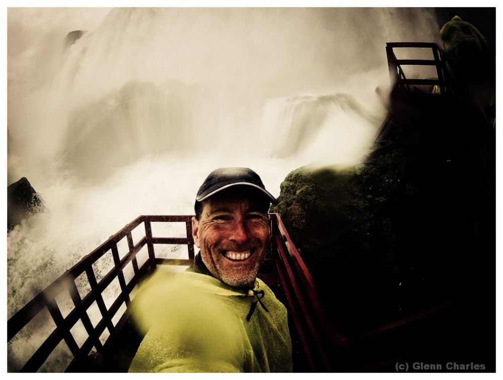 A soaking as we explore the wind of the caves at Niagara Falls