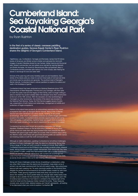 Ocean Paddler - Cumberland Island Special