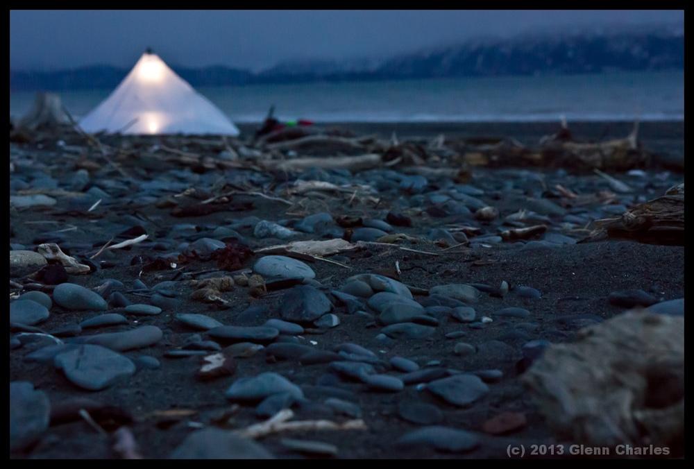 Beach camping, Kenai peniinsula