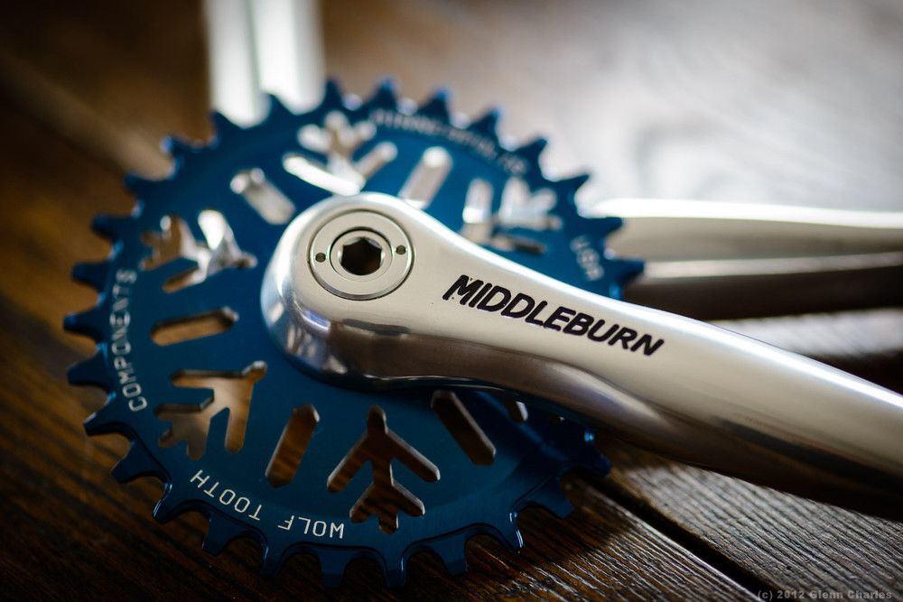 Middleburn 100mm cranks with Woof Tooth 30t ring.  Brand new, never used.  X-Type bb