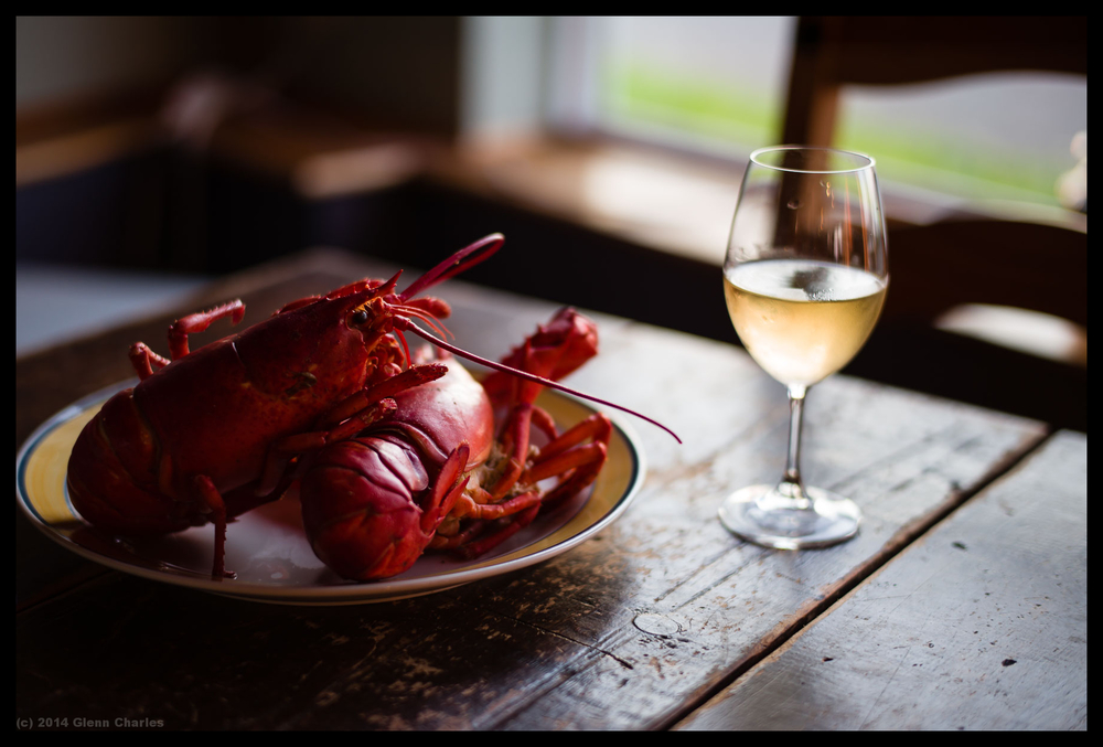 Fresh Maine Lobster and California Chardonnay - Leica M240 + 50Lux