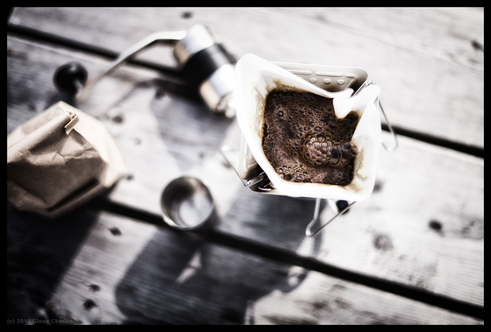 Stumptown Coffee, Snow Peak Drip, Porlex Grinder -- Leica M240 + 50 Lux