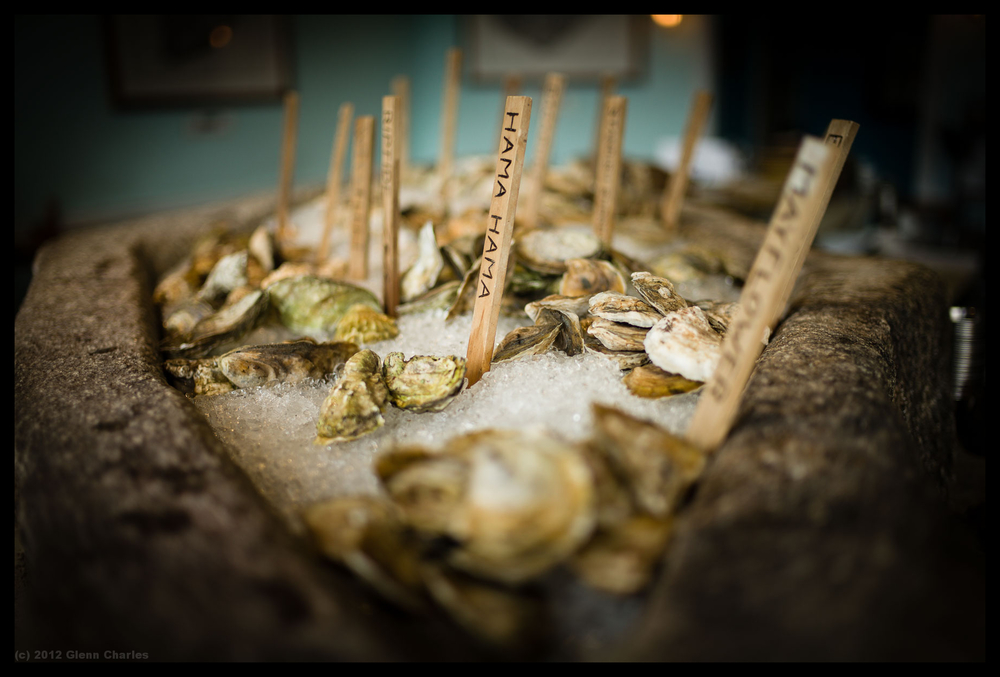 Sustainably raised and farmed oysters served up at the lovely Eventide in Portland Maine