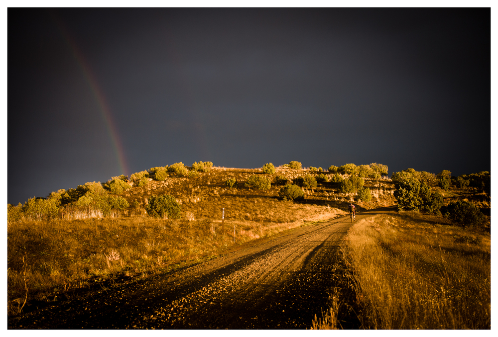Chasing Rainbows -- Night one and a race to find camp after a mere 19 miles of hard, really hard, riding