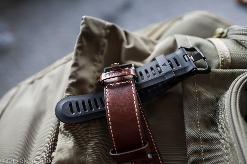 Leather and all Black compliment the Red. Garmin has a nice selection of bands for the Fenix 3