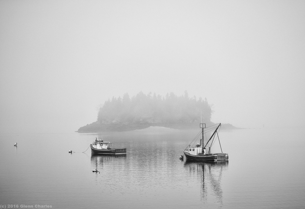 Early fog blankets the Maritimes in Downeast Maine - Sony A7rii, 90/2.8