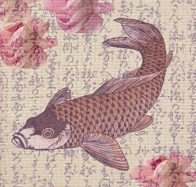 The koi is known for its strength, individuality, character, and perseverance.