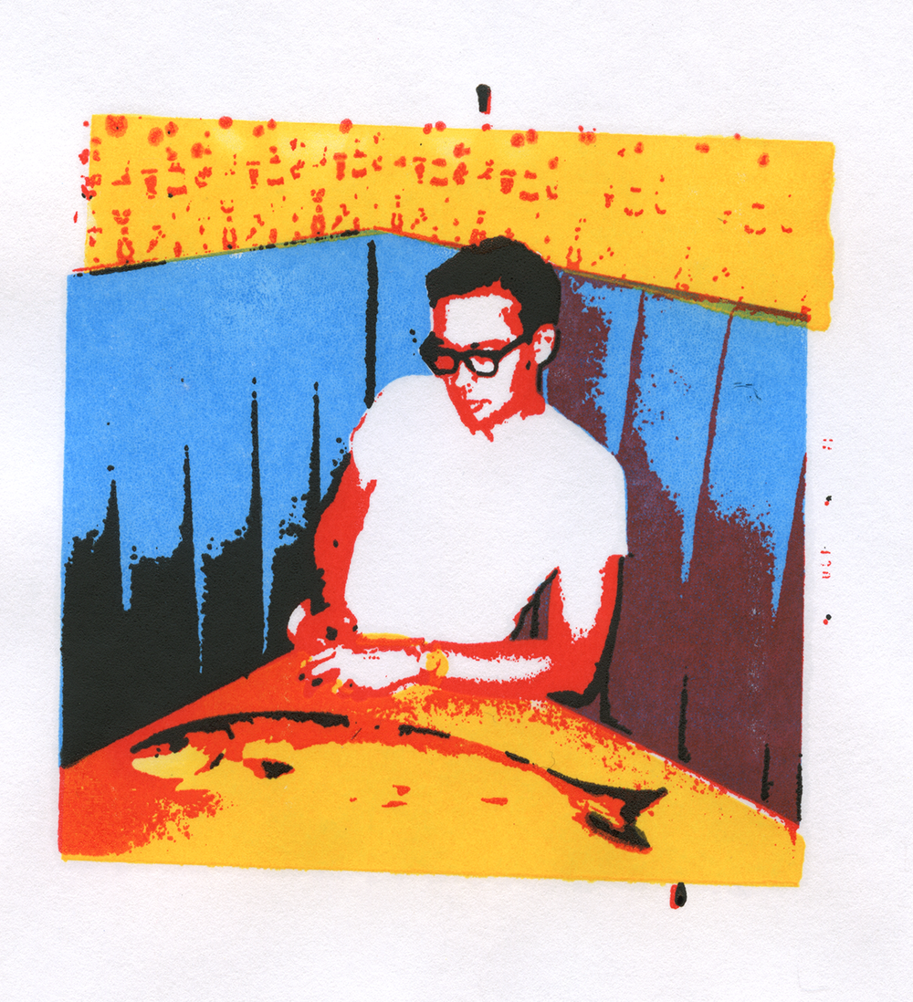4 color silkscreened print.
