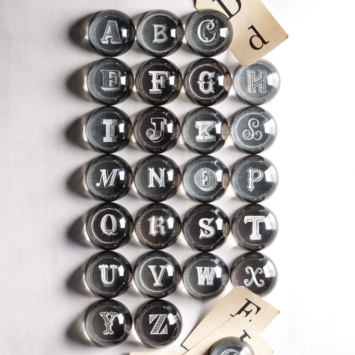 Alphabet Paperweights