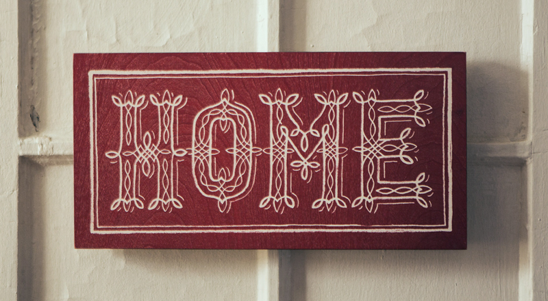 Home Wooden Sign, $19.99