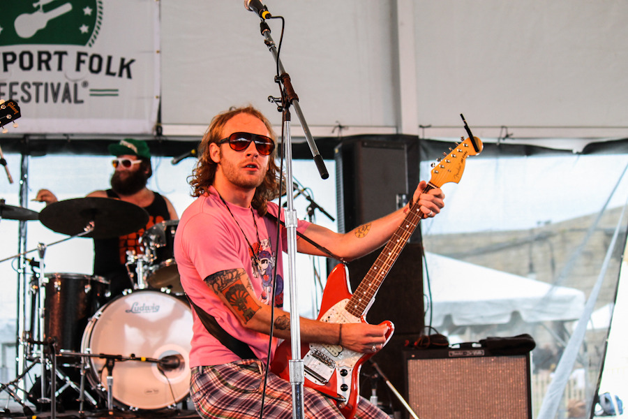 Deer Tick's John McCauley, the undisputed king of Newport.