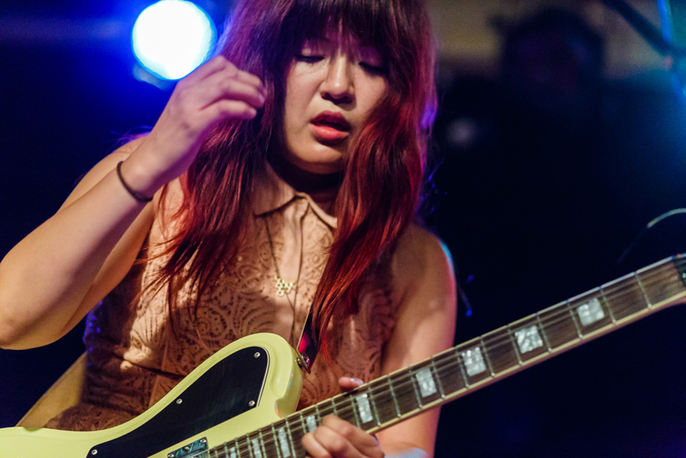Eternal Summers' Nicole Yun adding a little shred to the 2015 NYC Popfest (Photo by Matt Condon)