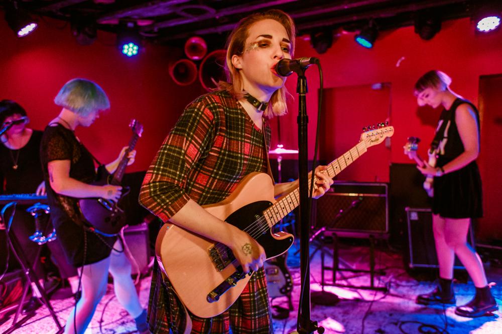Pins performing at DC9 in Washington, DC. (Photo by Matt Condon)