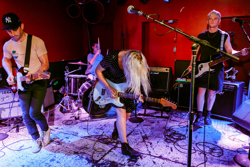 Beverly opening for Pins at DC9 in Washington, DC. (Photo by Matt Condon)