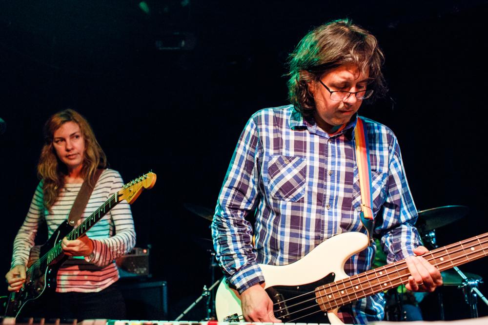 Swirlies Andy Bernick and Seana Carmody performing at the Black Cat - 7/6/15 (photo by Matt Condon