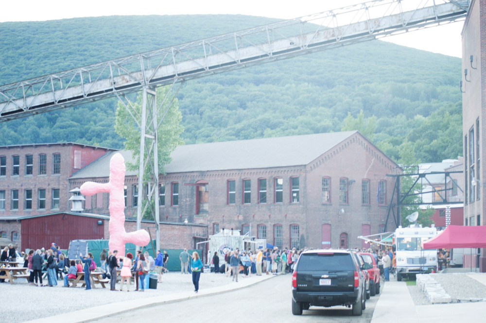 Mass Moca - a former factory nestled in the Berkshires.   (photo by Patrick Jacobi)
