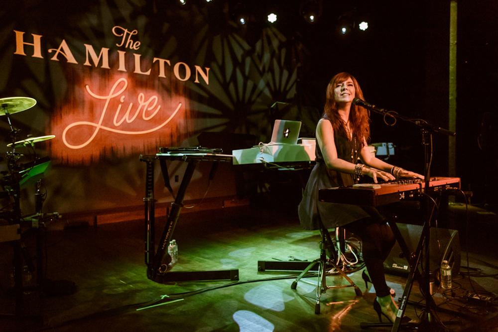 Howard Jones performing at the Hamilton Live in Washington, DC on 8/18/15