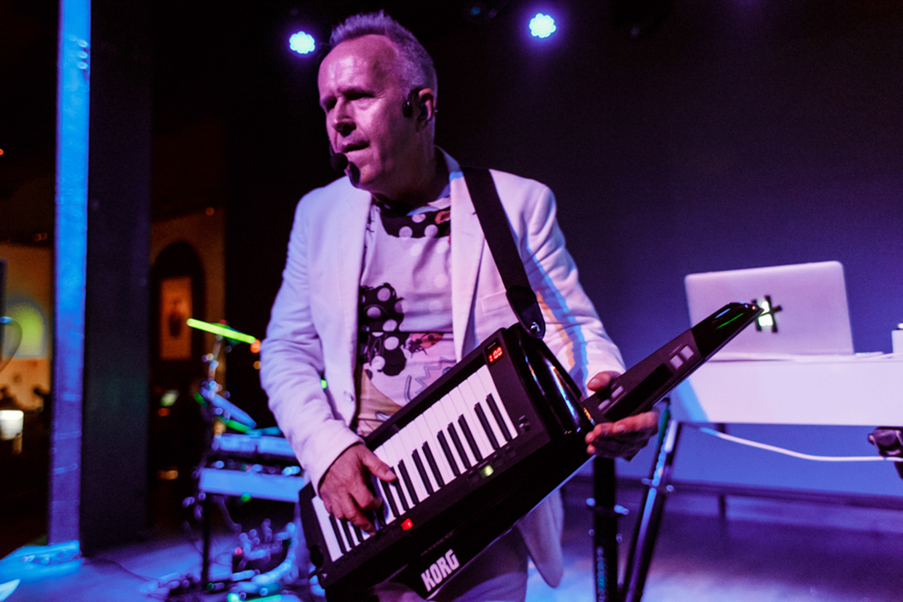 """They say """"No One Is To Blame""""but really, you can blame Howard Jones...for making some of the sweetest superjamz of the 80's - Performing at The Hamilton Live - 8/18/15 (photo by Matt Condon)"""