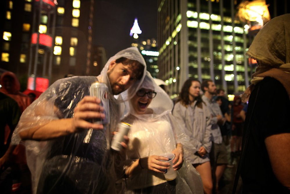 GS!YBE fans   The last summer storm of the year threatened to cancel but only enhanced the Godspeed You! Black Emperor set at City Plaza. (Photo by PJ Sykes |  www.pjsykes.com )