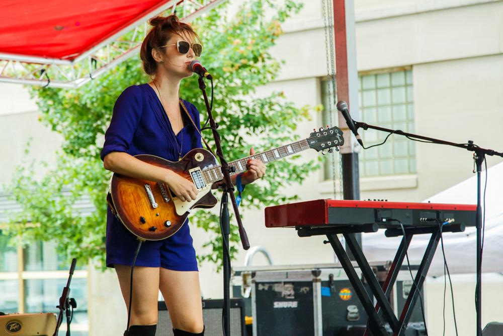 Skylar Gudasz performing at Hopscotch 2015 (photo by Matt Condon)