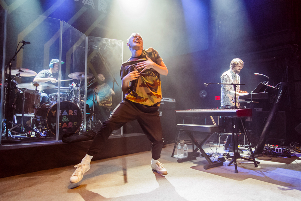 This is how Years and Years does it at the 9:30 Club on 9/19/15. (photo by Matt Condon)