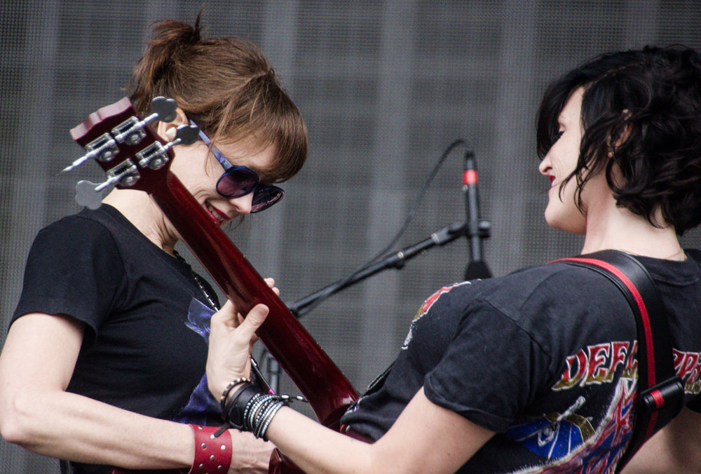 Ex Hex performing at the 2015 Landmark Music Festival in Washington, DC - 2-26-15 (photo by Kevin Hill)