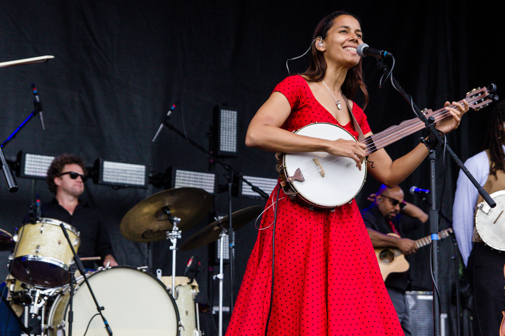 Rhiannen Giddens performing at the 2015 Landmark Music Festival in Washington, DC - 2-27-15 (photo by Kevin Hill)