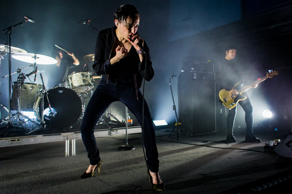 Savages performing at the 9:30 Club in Washington, DC - 3/27/16 (photo by Matt Condon / @arcane93)