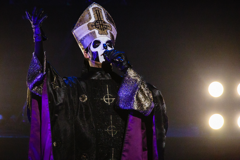 Papa Emeritus III of Ghost performing at the Hippodrome Theatre in Baltimore, MD on May 8th, 2016 (photo by Matt Condon /  @arcane93 )
