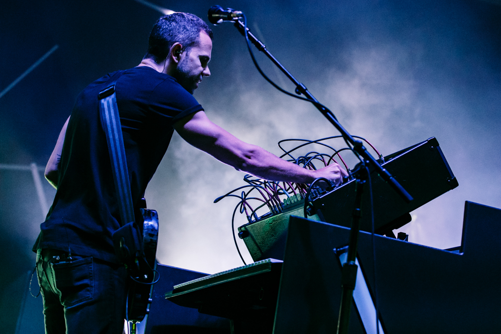 M83 performing at Merriweather Post Pavilion in Columbia, MD - 6/16/2016 (photo by Matt Condon / @arcane93)