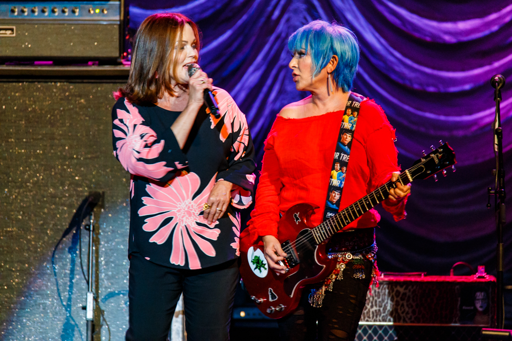 The Go-Go's performing at the Warner Theatre in Washington, DC on August 5th, 2016 (photo by Matt Condon /  @arcane93 )