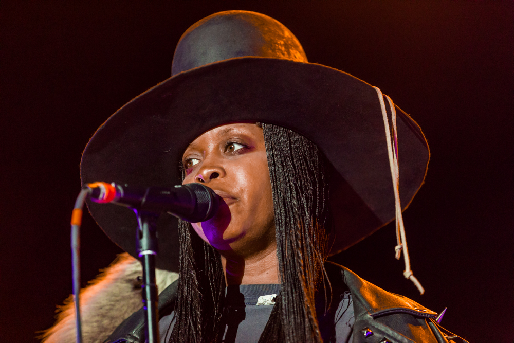 Erykah Badu at the Hopscotch Music Festival in Raleigh, NC, 9/9/2016 (photo by Matt Condon / @arcane93)