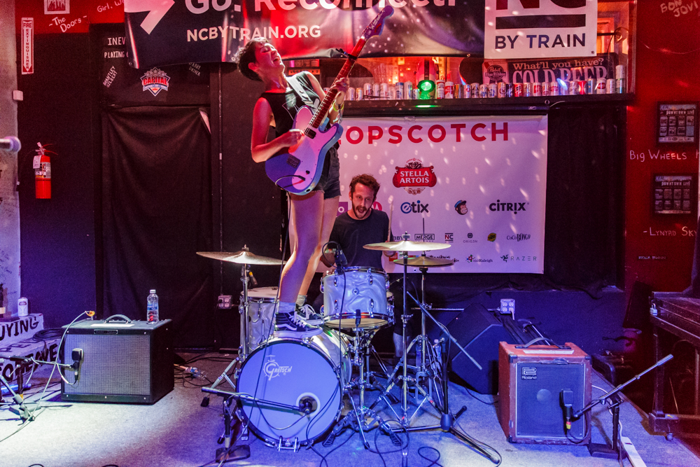 Diet Cig at the Hopscotch Music Festival in Raleigh, NC, 9/9/2016 (photo by Matt Condon / @arcane93)