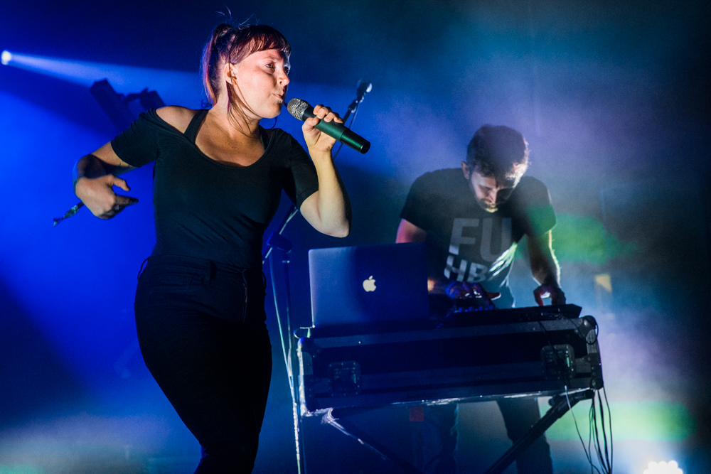Sylvan Esso at the Hopscotch Music Festival in Raleigh, NC, 9/10/2016 (photo by Matt Condon / @arcane93)