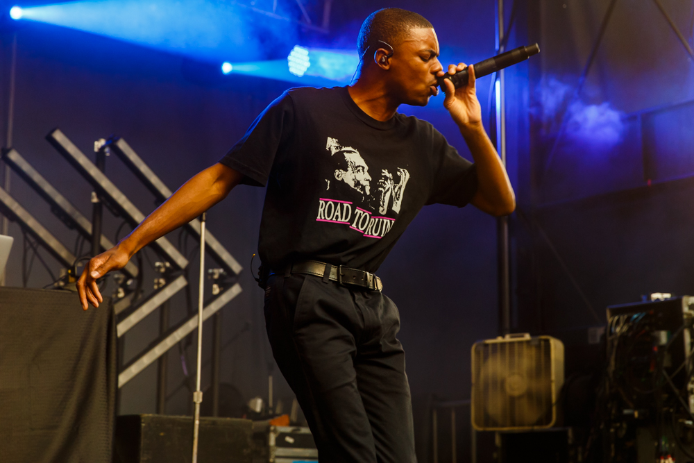 Vince Staples performing a headlining set at Hopscotch 2016 (photo by Matt Condon /  @arcane93 )