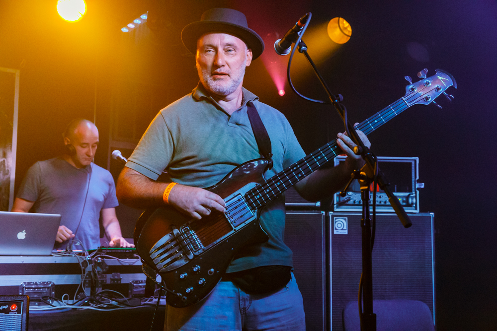 Jah Wobble and the Invaders of the Heart performing at the Rock and Roll Hotel in Washington, DC on September 23rd, 2016 (photo by Matt Condon /  @arcane93 )